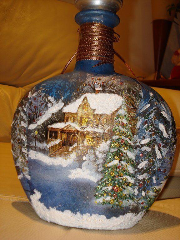 Botella y recopilacion de cosas navideñas (pág. 2) | Aprender manualidades es facilisimo.com