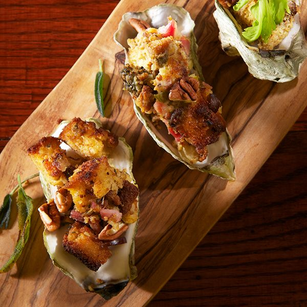 The Local Palate - Cornbread Oyster Dressing Appetizer
