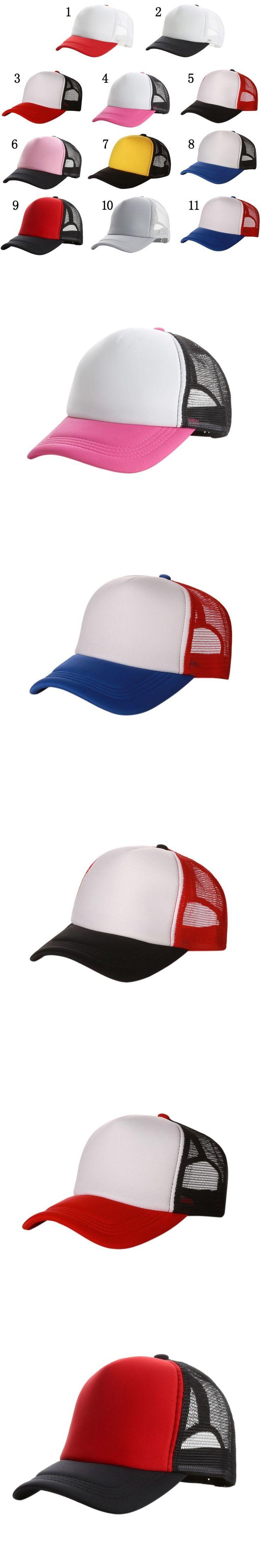 Good-looking New Plain Baseball Cap Solid Trucker Mesh Blank Curved Adjustable Baseball Hat 2017Hot