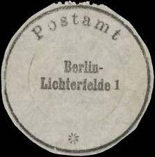 Postamt Berlin-Lichterfelde 1 Siegelmarke - 421489
