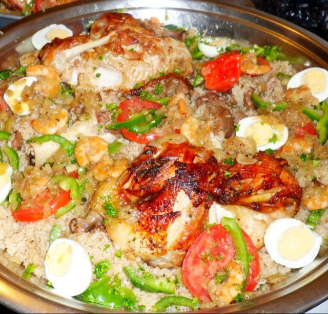 Riz au poulet et agneau