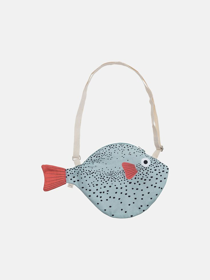 Don Fisher - Green Pufferfish bag