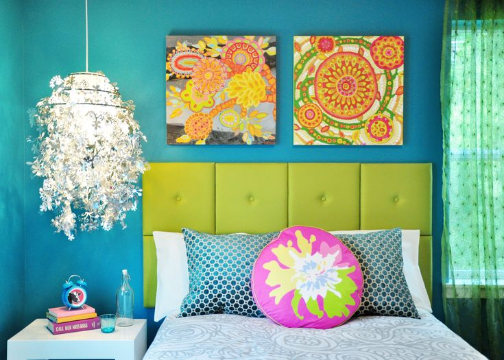 37 best images about bright bedrooms on pinterest child for Anthony baratta luna upholstered bed
