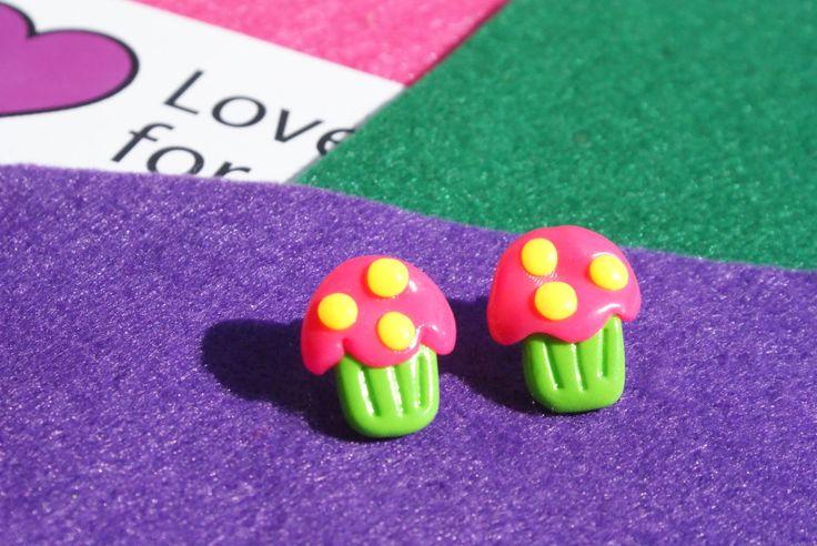 Polymeric earrings 5,00  www.lovefor.gr