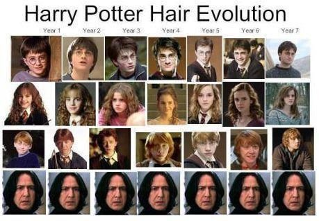how snape stays the same the whole way.