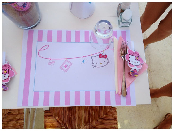 Hello Kitty placemats!