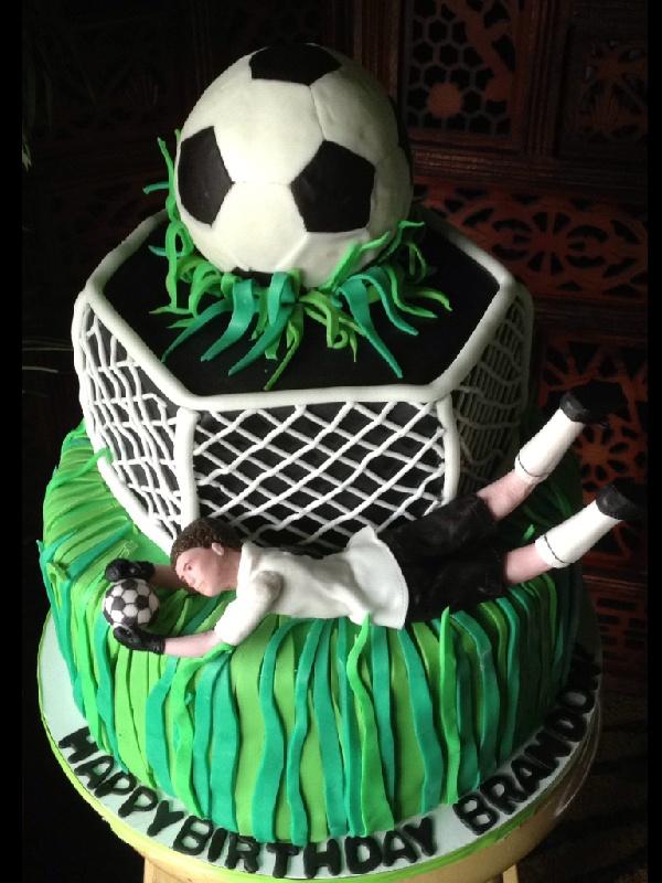 Soccer Goalie Cake by The Vagabond Baker