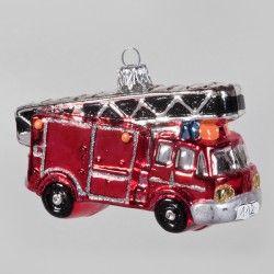"Christbaumkugel, Feuerwehrauto ""112"", 7 x 11,5 cm"