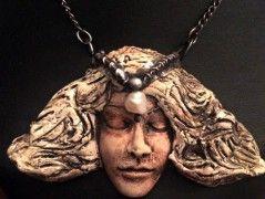 Náhrdelník cín keramika Elfí víla