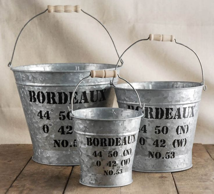 203 best decorating with metal buckets images on pinterest