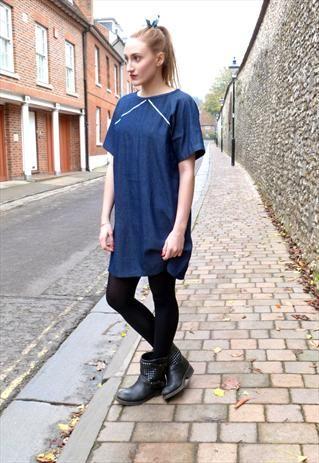 Carolyn Short Sleeve Denim Dress