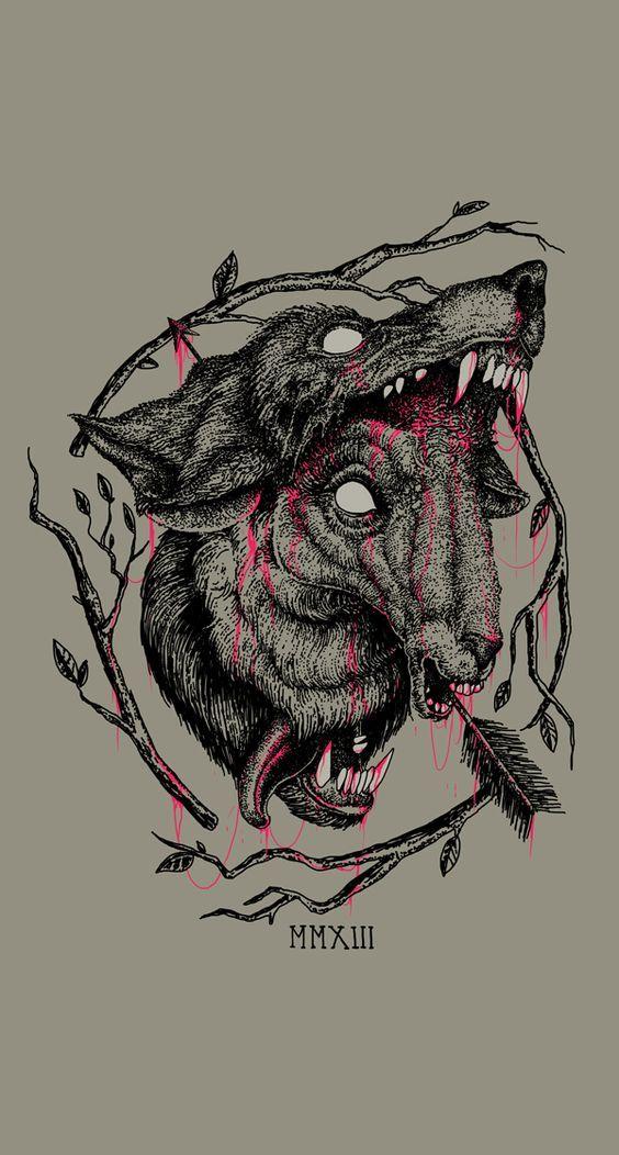 ONLY LOSERS by Mason Starkey, via Behance #illustration #morbid #evil #wolf #blood #arrow: