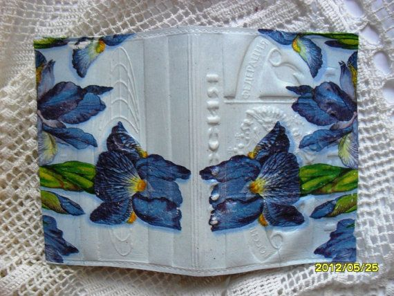 Passport Cover Flowers  Leather Passport by RussianshawlRustic
