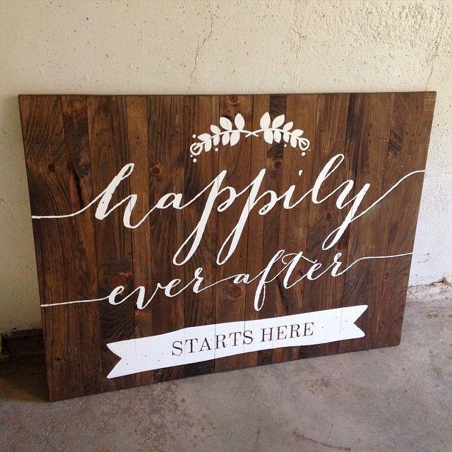 custom sign for a wedding #wedding #decor #reclaimed #wood - Thu Sep 17 2015 09:40:22 GMT-0400 (EDT)