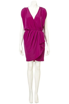Drape front dress - great color