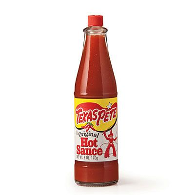 Texas Pete Hot Sauce | Spice up everything from eggs to barbecue with this blend of three different types of peppers, made in Winston-Salem, North Carolina.