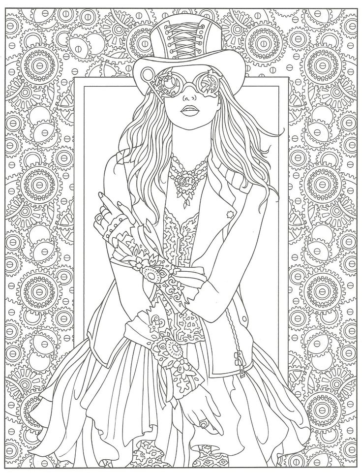 38 best Steampunk Color Pages images on Pinterest Coloring books