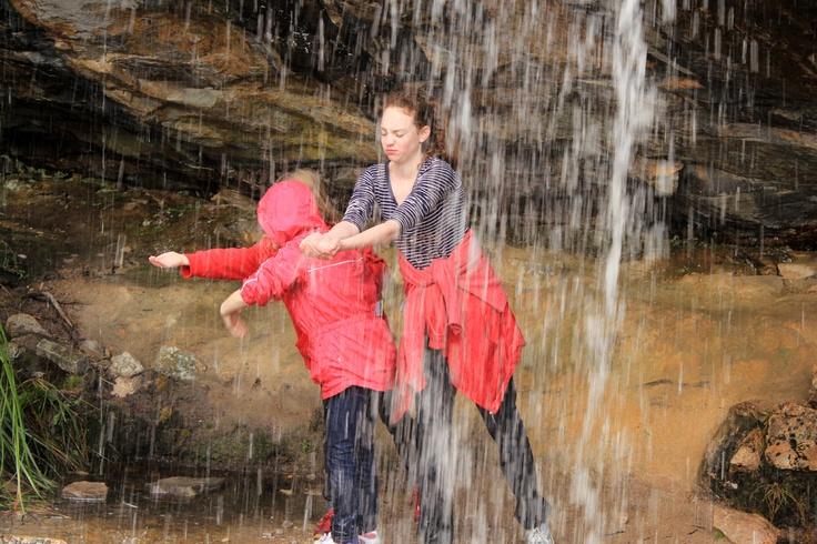 Madison, Amy and Sarah - under Devil's Falls (near the Pinnacle, Grampians).