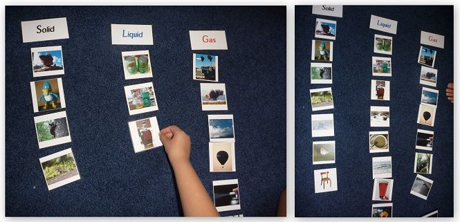 great learning wall idea for matter unit