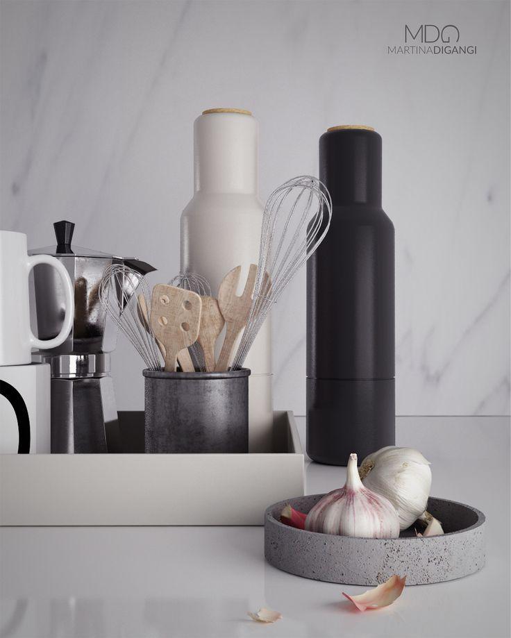 #kitchen #studioshot #stilllife - Rendering: Cinema 4D + Vray  Post-produzione: Photoshop