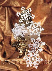 Снежинки, связанные крючком (Diagramas copos de nieve)