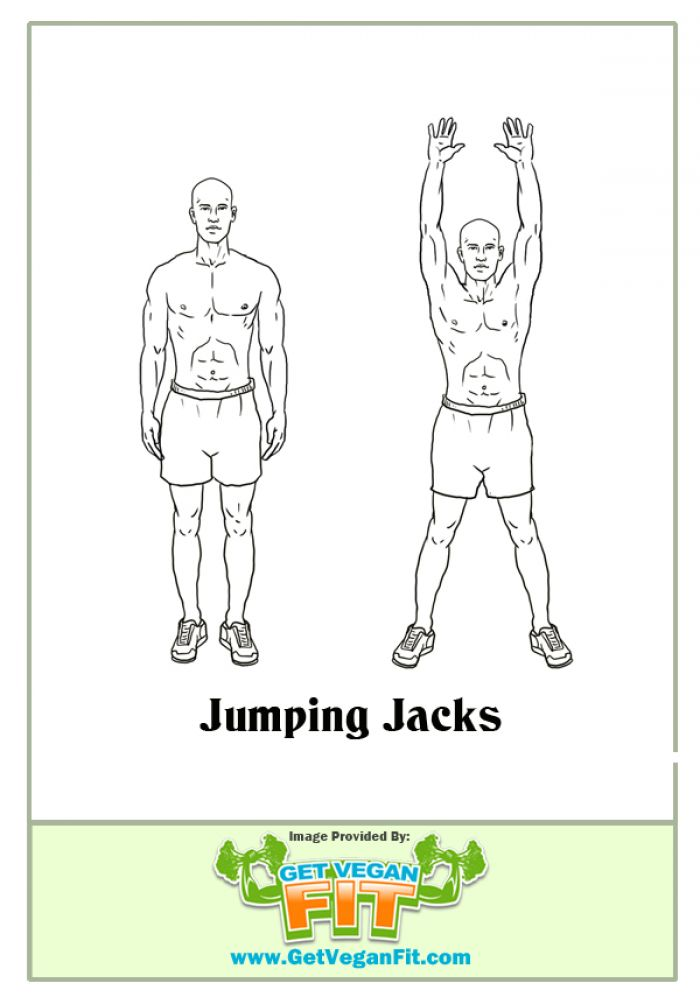 Jumping Jacks Heart Pumping Cardio Exercise Illustration