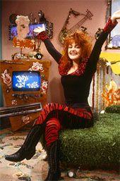 Julie Brown on the set of Just Say Julie