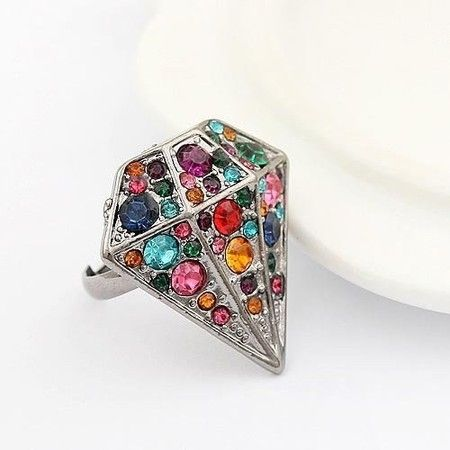 Anel Diamante Colorido #ring #diamond #anel #diamante