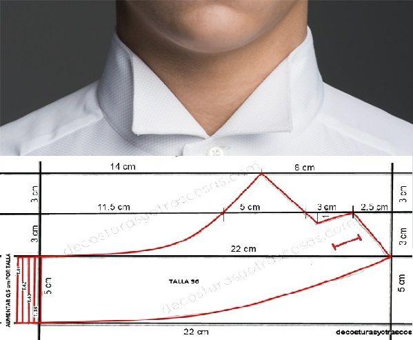 Hoy trazaremos un cuello Ópera o Wing Collar para camisa de hombre. También lo llaman Cuello Smoking de camisa. Es muy elegante y se utiliza en eventos formales con corbata de lazo. Dibuja un rectá…