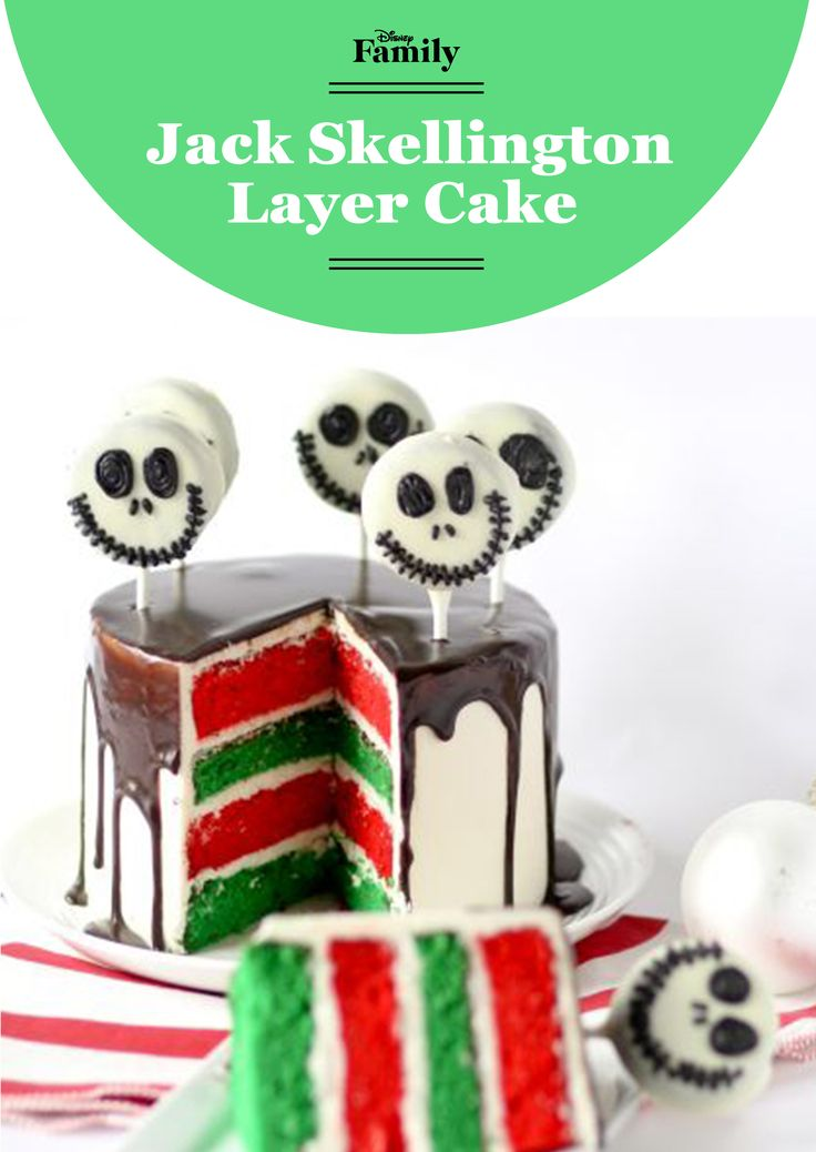 Jack Skellington would certainly approve of the combination of spooky and sweet in this Christmas cake. This colorful recipe is the best way to put your holiday spirit on display.