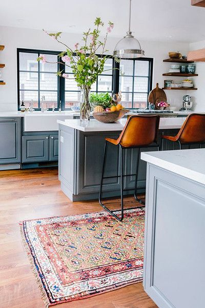 Pattern Play - 15 Reasons Why You Need A Persian Rug In Your Kitchen - Photos