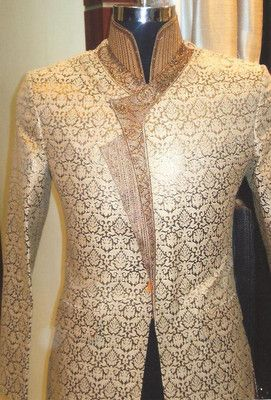 Mens Indian Ethnic Traditional Embroidered Wedding Sherwani Kurta Indowestern | eBay