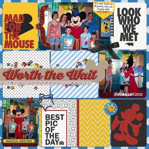 Magic Memories Collection for your Disney Scrapbook | page by @staceyashby