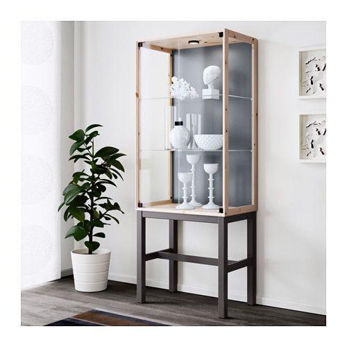 NORNÄS Vitrinskåp med 2 dörrar - 65x166 cm - IKEA
