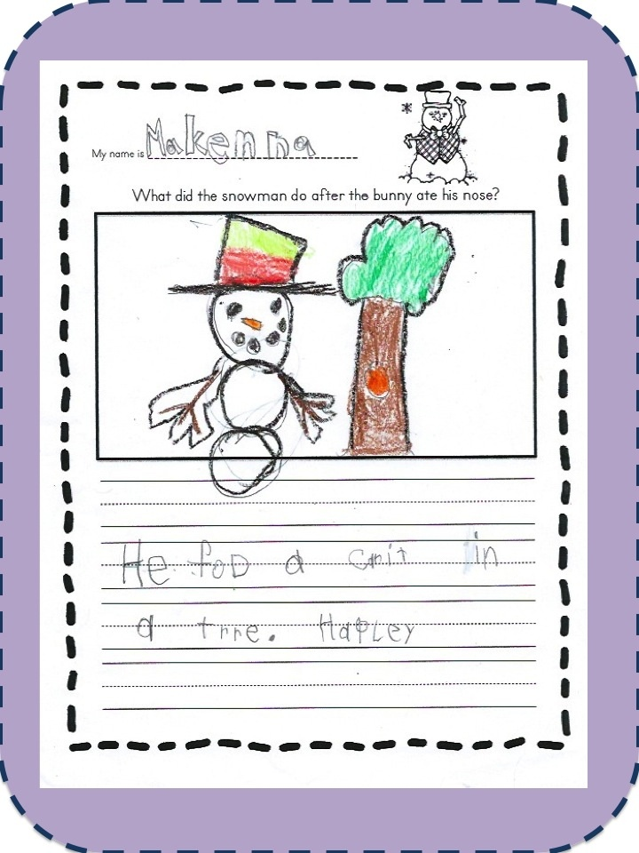 Love Those Kinders!: Snowman Math and Literacy Projects