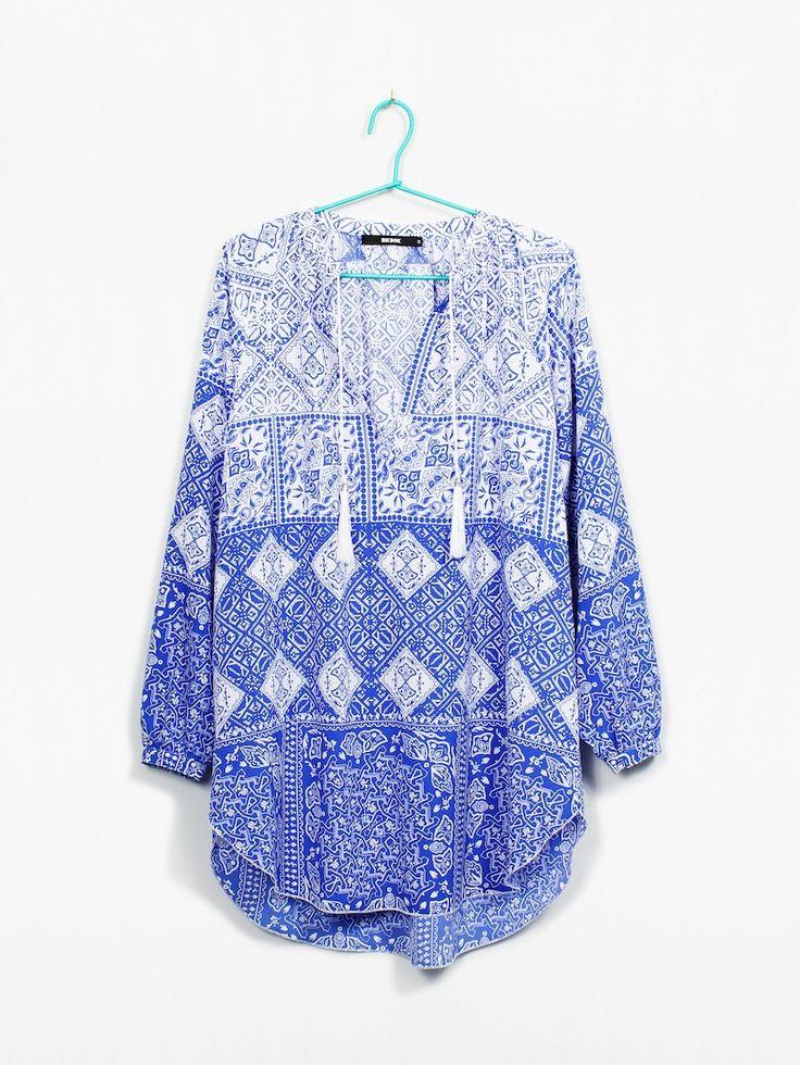 Vakare blouse | 7162246 | Multi | BikBok | Sverige