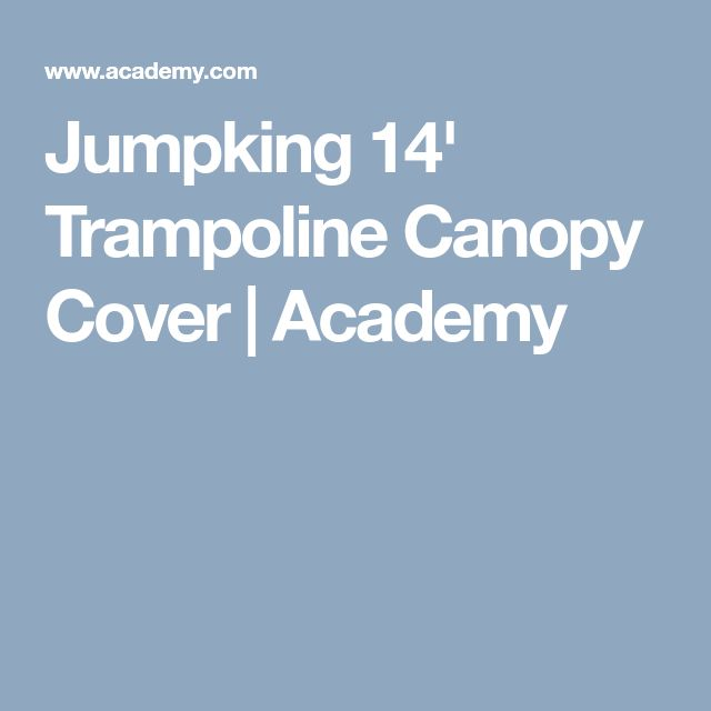 Jumpking 14 Trampoline Canopy Cover