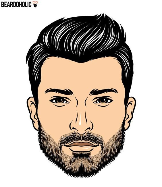 Mustache and Chin Strap Beard In Short Beard Styles