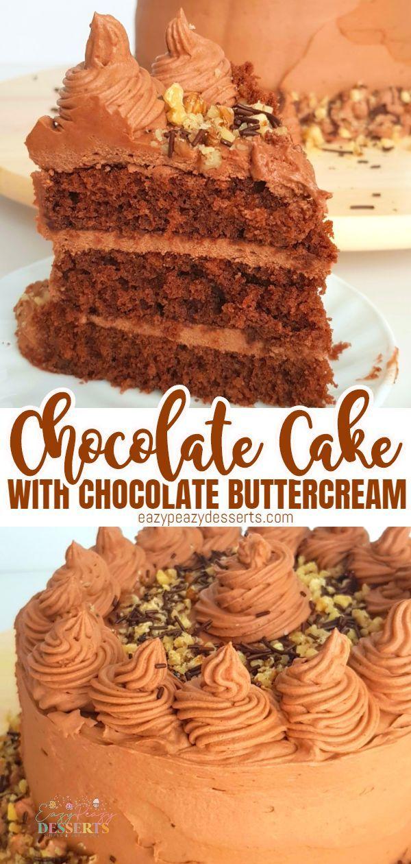 Double Chocolate Cake Recipe Desserts Chocolate Cake Recipe Fun Desserts