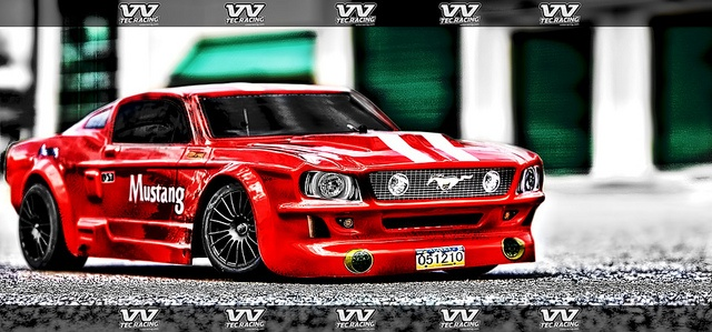 VVTEC Ford Mustang DRIFT 1.0 Racing Car. This Remote Control car is 1/5 scale and run on gas mixed with 2 stroke oil. Engine size is 23cc or 29cc. Car is one meter in length so it is pretty large.    For more info please see: www.vvtecracing.com    Infra   Home Living readf more at home.forallup.com