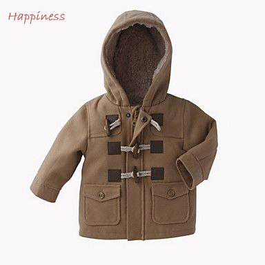 Boy's+Cotton+Blend/Polyester+Jacket+&+Coat+,+Winter/Spring/Fall+Long+Sleeve+–+GBP+£+16.09