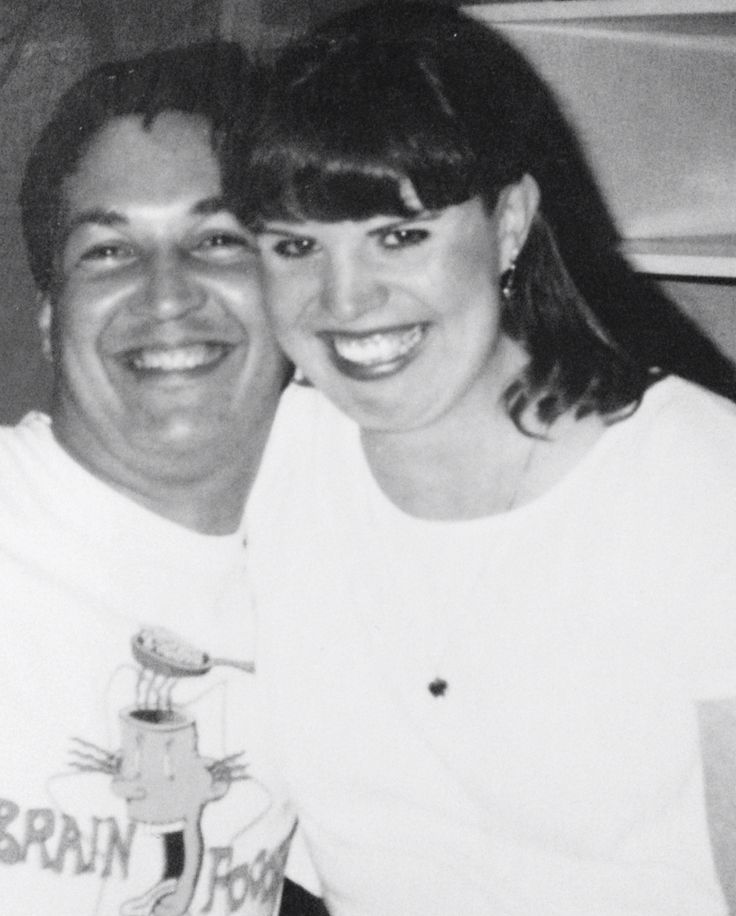 Matt and I in our Radio days. We were the dynamic duo of the airwaves! (1995).
