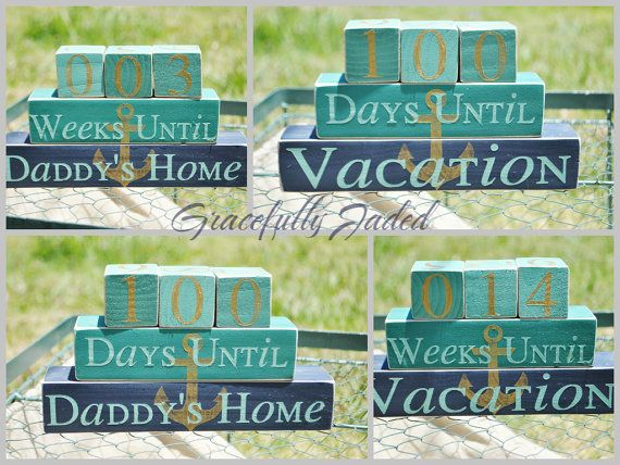 Deployment Countdown Blocks  Deployment by gracefullyjaded on Etsy