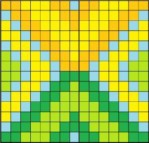 Perler bead coaster pattern by littlesymmetry.
