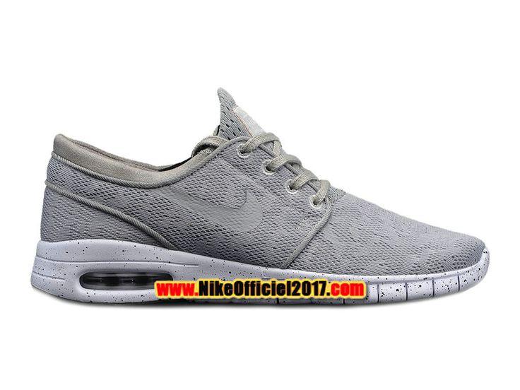 Nike SB Stefan Janoski Max Chaussure Nike Skateboard Pas Cher Pour Homme Gris/Blanc 631303-001