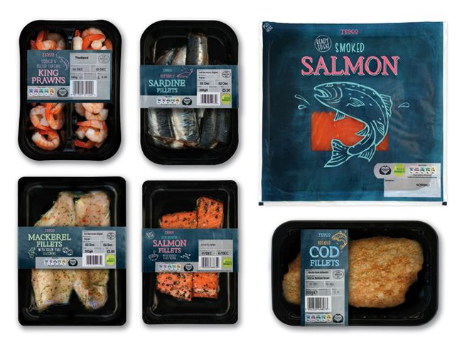 Tesco Fresh Fish on Packaging of the World - Creative Package Design Gallery