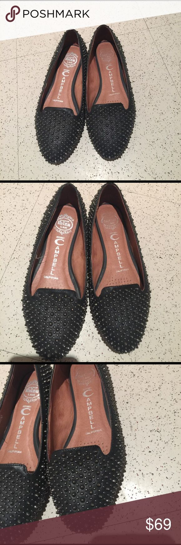 Jeffrey Campbell California fully studded flats Worn a few times. In very good condition. Studded flat Jeffrey Campbell Shoes Flats & Loafers