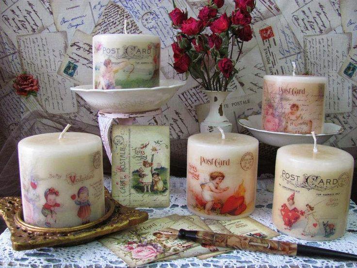 veja que lindas essas velas decoradas neste post trouxemos um passo a passo