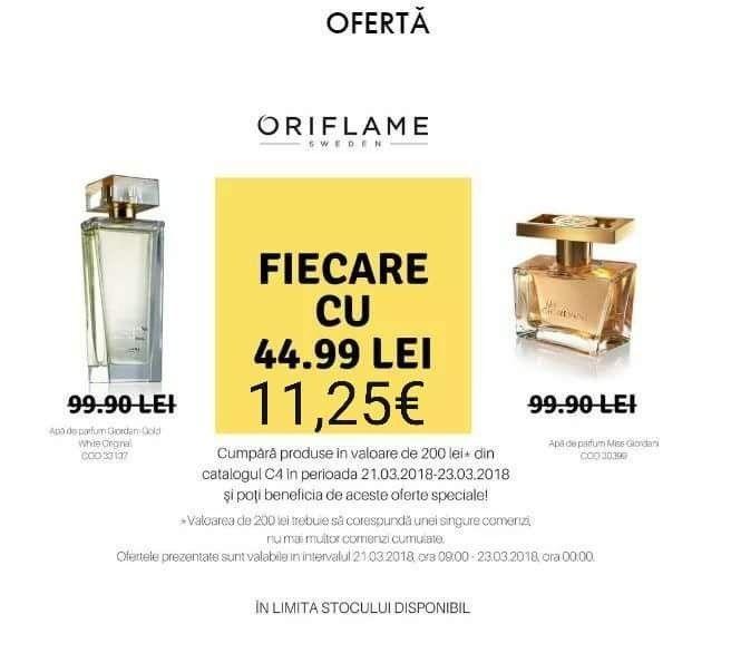🔝Ciao🤗☀️  #MaiMultaFrumusete2018 #Oriflame  #MissGiordani & #GiordaniOriginal White ❤️😮 ...cu numai 44,99!!!  #OfertăSpecială :  🔝 Înscrie-te #GRATUIT la #ORIFLAME chiar astăzi și beneficiază de #ExtraReduceri de peste 40% și #cadouri!  🔝Completează formularul sau lasă-mi un mesaj privat: http://ro.oriflame.com/business-opportunity/become-consultant?potentialSponsor=1018715