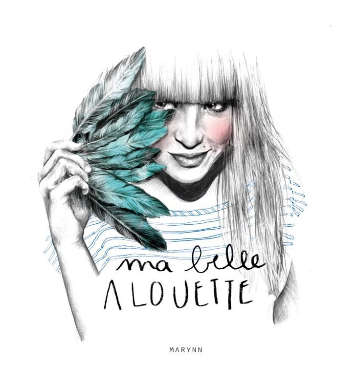 Illustration by Marynn (4): Belle Alouett, Illustrations Inspiration, Marynn Fashion, Illustration, Graphics Design, Ma Belle, Drawing, Design Student, Fashion Illustrations